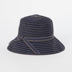 Ribbon Stripes Hat in Gardening UTILITY Garden Apparel at Terrain