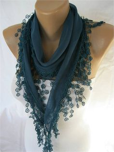 ONE SALE scarf women scarves guipure fashion by MebaDesign