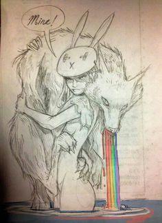 "Sketch by Chiara Bautista ""All mine"""