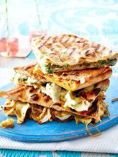 Gegrillte Pide-Sandwiches