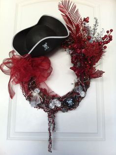New Orleans PIRATE BUCCANEER Wreath Beads  Mardi Gras by caroledoc, $50.00