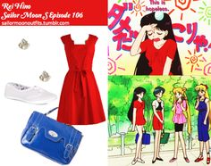 Like Sailor Moon Outfits on Facebook! Requested by:josyrosado ModCloth Ignite The Night dress Forever 21 rhinestone cluster earrings in Gold/Clear Miss Sweety twist-lock buckled satchel in Blue Dorothy Perkins white canvas lace pumps