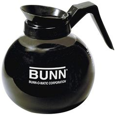 BUNN 42400 12-Cup Commercial Glass Decanter, Black (24 AUD) ❤ liked on Polyvore featuring home, kitchen & dining, fillers, food, coffee, coffee accessories, tea & espresso, glass decanter and bunn