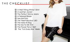 Neutral Flats, Back To Basics, Alexa Chung, Every Woman, Lbd, Wardrobe Staples, Sequin Skirt, Essentials, Leather Jacket