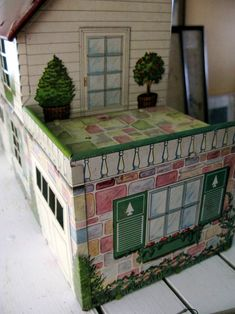 vintage dollhouse. Someone had my same collection of Dolls, Books, & Dollhouse's. Had this one and used it for my Dolly Darlings.