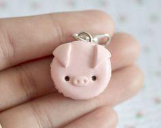 Macaron de cerdo kawaii / Kawaii encantos / encanto de planificador / llavero