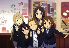 If you want to watch an anime which is cute, funny and is related to music then K ON is perfect for you. This anime revolves around five girls named Yui, Mio, Ristu, Mugi and Azuna who forms … K On Anime, Anime Guys, Manga Anime, Anime Stuff, Anime Art, Anime Music, Vaporwave, Best School Anime, K On Yui