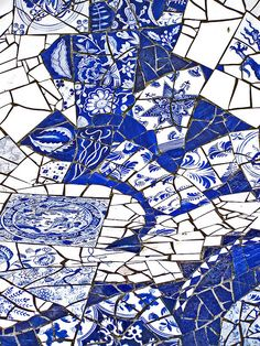 Delft blue by Blue And White China, Blue China, Love Blue, Blue Dream, Delft, Mosaic Wall Art, Mosaic Tiles, Blue Mosaic, Blue Tiles