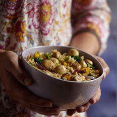 Illness-Fighting Mushroom and Veggie Pilaf