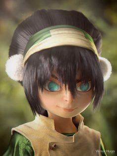 Toph from Avatar in 3D