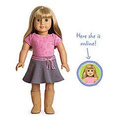 American Girl® Dolls: Light skin, blond hair with bangs, green  name carolina=hayse=ulrich