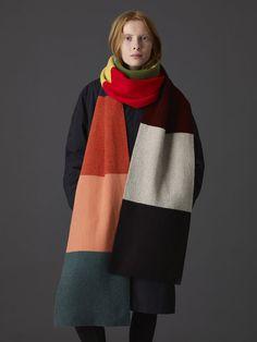 f665954fc3f63 Colour Block Jacquard Scarf - Long - Jo Gordon Color Blocking, Colour Block,  Blanket