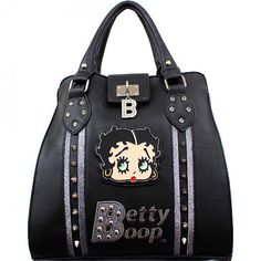 Official Betty Boop® 'B' Studded Handbag – Handbag Addict.com