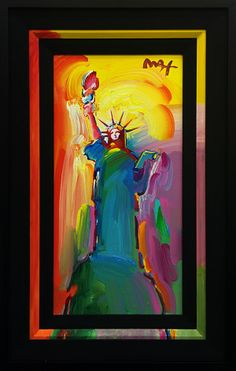 PETER MAX - STATUE OF LIBERTY Size: 13 X 26 INCHESYear: 2013 Medium: ACRYLIC ON CANVASEdition: ORIGINAL Artwork is in excellent condition. Certificate of Authenticity included. Additional images are available upon request. Please contact Melissa@Gallart.com - (305)932-6166 for pricing.