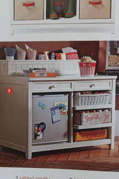 movie/snack station-I want one of these in my tv room!