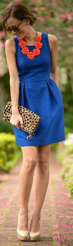 Cobalt + Orange #summer #brights
