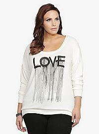 TORRID.COM - Love Fleece Sweater