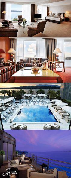 Hotel President Wilson, Genebra. Hotel cinco estrelas de Genebra, com vista para a montanha de Mont Blanc e vista para o lago de Genebra. Diárias a partir de R$ 1.370,00. http://www.hotelpwilson.com/fr/
