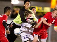 Wenatchee vs. Eastmont boys soccer. Eastmont won 3-1. Photo by Mike Bonnicksen