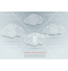 New technologies - cloud computing advantages vector 1821626 - by phyZick on VectorStock®