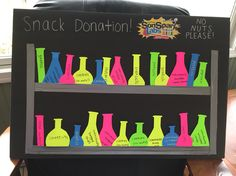 Snack donation board for SonSpark Labs VBS