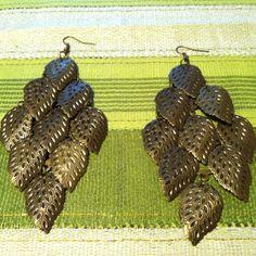 Metallic Earrings (Metal Leaves)