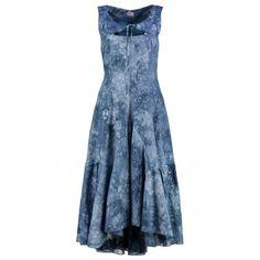 917861d1fe7bae NTD Mouwloze zwierige lange tie-dye jurk met extra accent aan de  bovenzijde. € 119