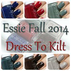 Essie Fall 2014 swatches via @alllacqueredup