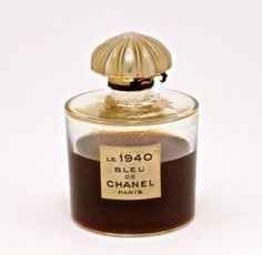 Lot: 1940 Chanel Le 1940 Bleu de Chanel perfume bottle, glas, Lot Number: 0272, Starting Bid: $400, Auctioneer: Perfume Bottles Auction, Auction: Perfume Bottles Auction, Date: May 4th, 2013 UTC