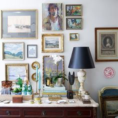 """(4/4) """"My apartment is filled with objects and art I've collected along my travels including many trips to the Paris flea market. Souvenirs are a great way to remember special trips. Thanks for following along with my Instagram takeover today. ✨To see more of my New York apartment, tap the link in the @onekingslane profile.✨"""" - @habituallychic [: @manufotomanu] #SmallSoaceStar #OKLTakeover"""