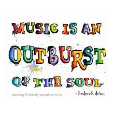 Music is an Outburst of the Soul art print- Watercolor Painting of... ($20) ❤ liked on Polyvore