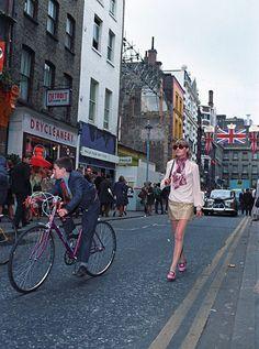 Vintage Trucks Anneke Wills in Carnaby Street, Vintage Street Fashion, Mod Fashion, 1960s Fashion, Carnaby Street, London Street, Vintage London, Old London, Swinging London, London Girls