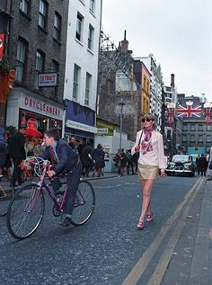 Anneke Wills in Carnaby Street, 1960s