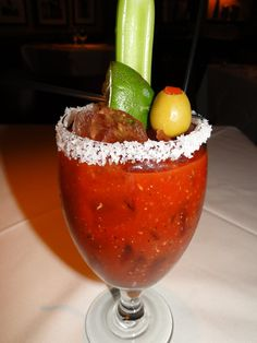Bloody Mary Cocktail....I had to repin this because look at all that good lovin' they packed up in there...super delish and yummmy off this earth!
