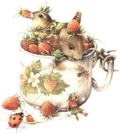 Vera the Mouse - strawberries