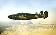 Lockheed Hudson Flying by the Pyramids in the 1940's