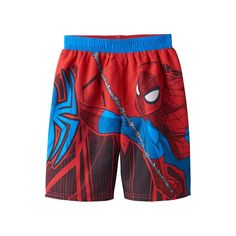 c495a41ae0e8f Toddler Boy Marvel Spider-Man Swim Trunks