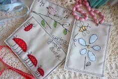 Текстильные открытки / Textile cards