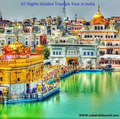 indiaholidaymall#Golden #Temple Amritsar - The #Harmandir saheb and informally referred as the Golden temple, is the holiest Sikh gurudwara located in the city of Amritsar in Punjab, India. The city was founded in 1574 by the fourth Sikh guru, Guru Ram Das.