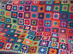 Glorious Bold Contemporary Granny Square Crochet by Thesunroomuk