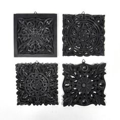 Found Object 4 Piece Lydia Indian Wooden Panel Wall Decor Set & Reviews | Wayfair