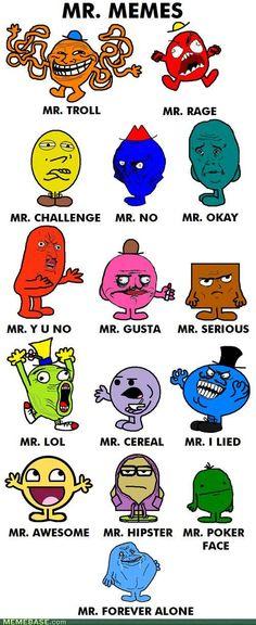 Mr. Men parody- Mr. Memes