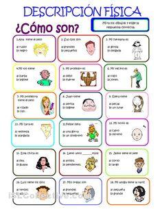 DESCRIPCIÓN FÍSICA - Ejercicio para practicar las descripciones físicas. #Spanish