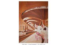 Schweine auf dem Bahnsteig