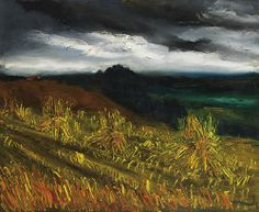 Maurice de Vlaminck - Chanp de Bles  oil on canvas, 60 by 73 cm