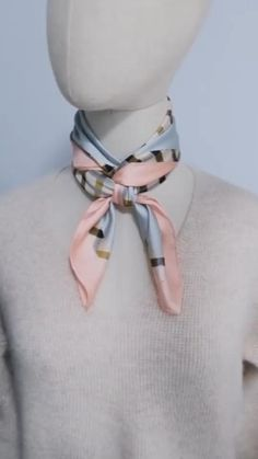 Ways To Tie Scarves, Ways To Wear A Scarf, How To Wear Scarves, Scarf Knots, Diy Scarf, Tie A Scarf, Scarf Hanger, Scarf Wearing Styles, Scarf Styles