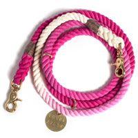 Magenta Ombre Rope Leash, Adjustable