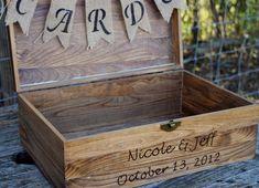 Shabby Chic Wedding Rustic Wooden Card Box Rustic Wedding   Etsy Rustic Card Box Wedding, Rustic Wedding Centerpieces, Wedding Boxes, Wedding Cards, Wedding Decor, Chic Wedding, Dream Wedding, Wedding Burlap, Wedding Country