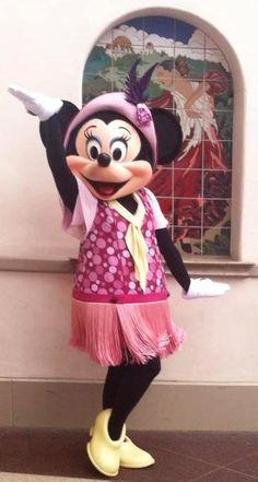 Flapper Minnie Mouse at Disney California Adventure / Disneyland - California.