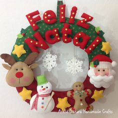 Ideas For Hanging Door Decorations Holidays Christmas Makes, Felt Christmas, Christmas Projects, All Things Christmas, Holiday Crafts, Christmas Holidays, Christmas Ornaments, Holiday Decor, Christmas Door Hangings